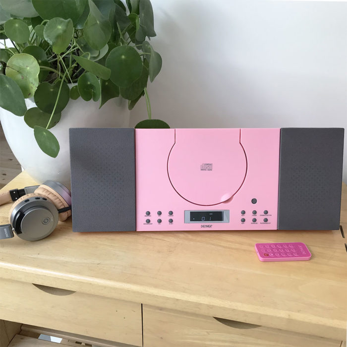 denver mc-5010 cd player pink