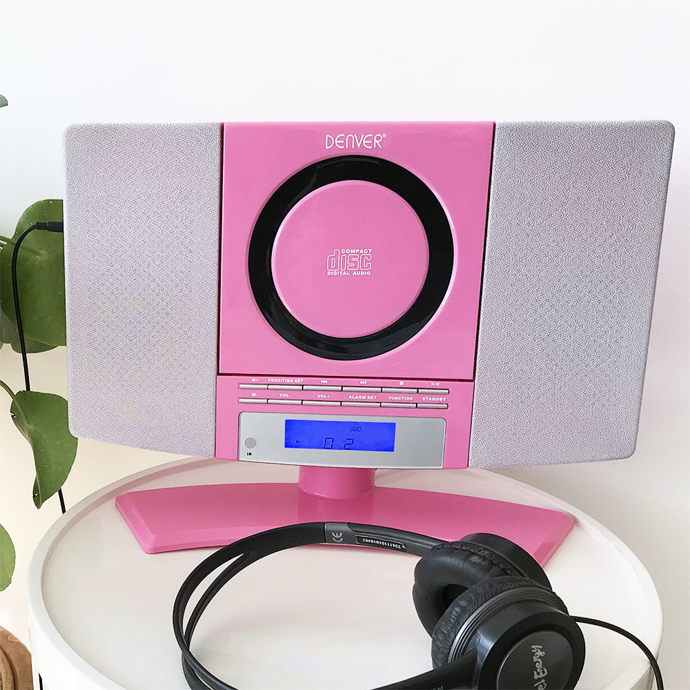 denver mc-5220 pink cd player