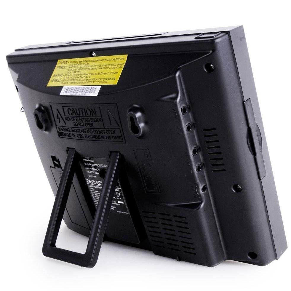 Denver Mc 5010bt Black Bluetooth Cd Player With Fm Radio