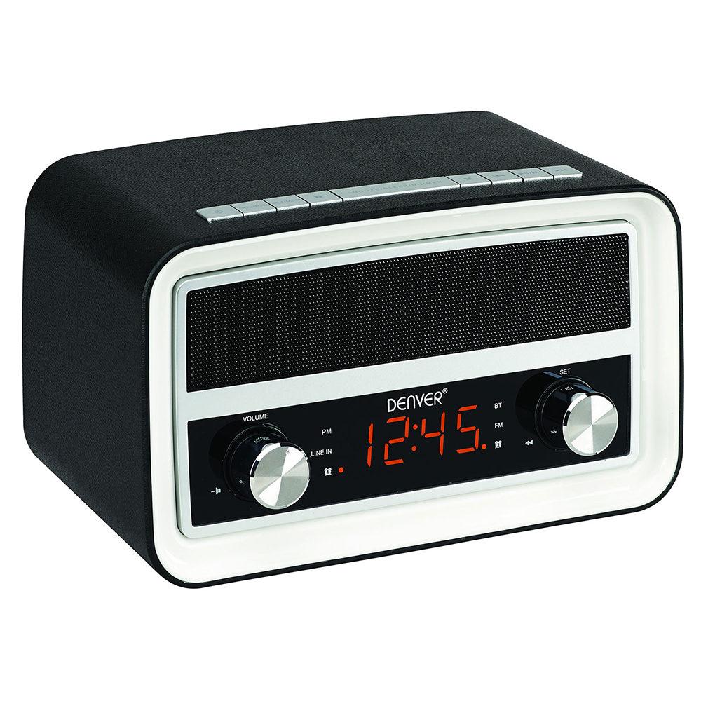Fremragende DENVER CRB-619 BLACK RETRO RADIO ALARM CLOCK WITH MP3 CONNECTION OX09