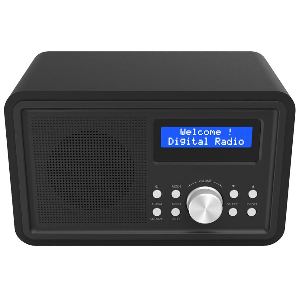 denver dab 35 black portable dab pll fm digital radio. Black Bedroom Furniture Sets. Home Design Ideas