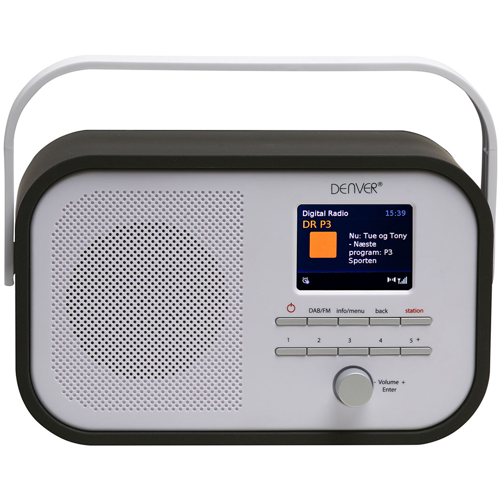 denver dab 40 black portable dab fm digital radio with. Black Bedroom Furniture Sets. Home Design Ideas