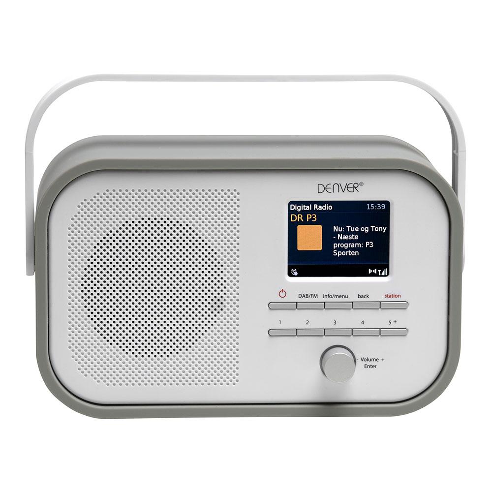Fantastisk DENVER DAB-40 GREY PORTABLE DAB+ FM DIGITAL RADIO WITH ALARM AND ZU27