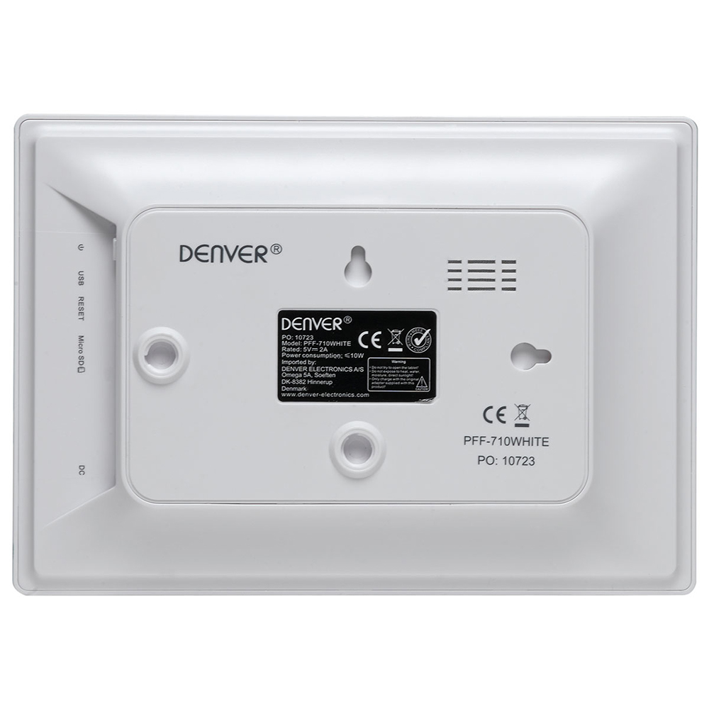 DENVER PFF-710 WHITE 7 INCH FRAMEO SOCIAL PHOTO FRAME WITH 8GB ...