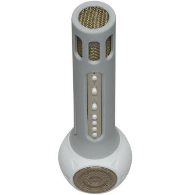 DENVER KMS-10 WIRELESS BLUETOOTH KARAOKE MICROPHONE SPEAKER - WHITE -  3wisemonkeys 704348f4b9bde