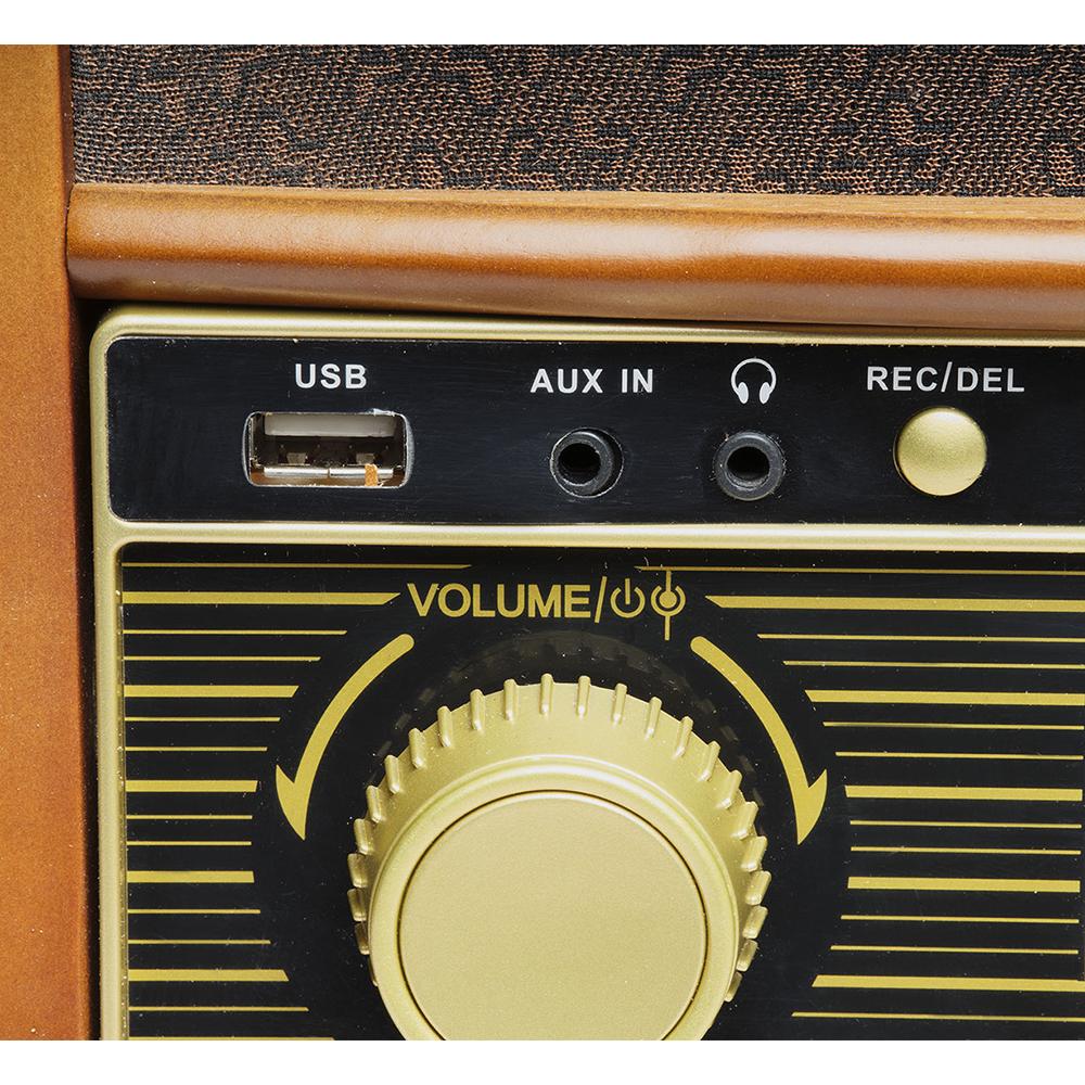 Denver Mcr 50 Retro Record Player With Cd Cassette Radio