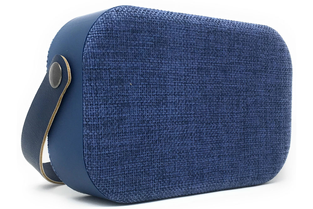 bts-blue fabric speaker