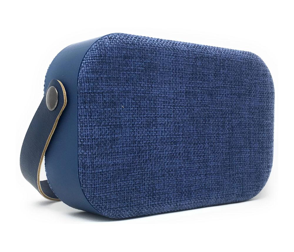 denver bts-63 blue bluetooth fabric speaker