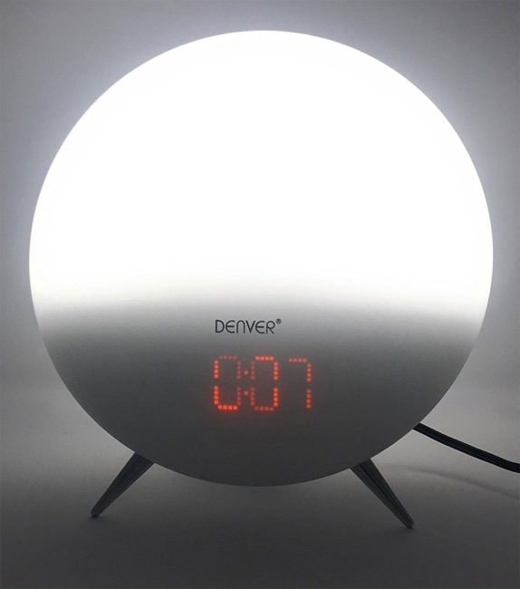 denver crl-310 sunrise alarm clock wake up light