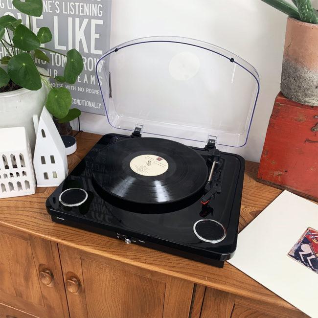 vpl-200 black retro record player