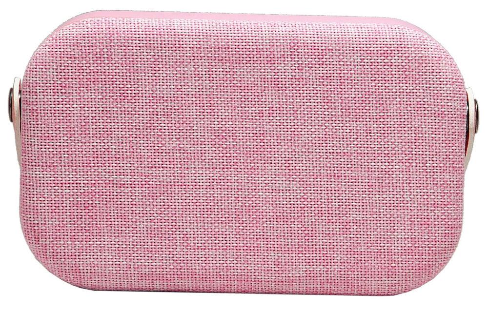 denver bts-63 pink bluetooth speaker fabric