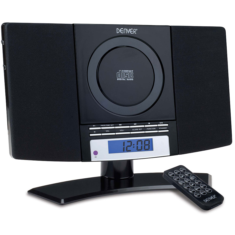 Denver Mc 5220 Black Wall Mountable Micro Cd System With